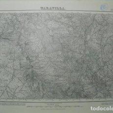 Militaria: MAPA DE TARAVILLA DEL EJERCITO NACIONAL E 1:50000 SELLO DEL CUARTEL GENERAL DEL GENERALÍSIMO. Lote 194560878