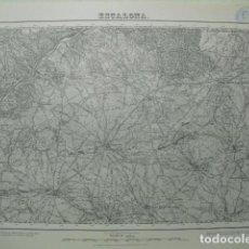 Militaria: MAPA DE ESCALONA DEL EJERCITO NACIONAL E 1:50000 SELLO DEL CUARTEL GENERAL DEL GENERALÍSIMO. Lote 194564135