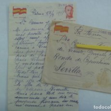 Militaria: GUERRA CIVIL : CARTA DE PALMA A SEVILLA A MADRE MARINERO MUERTO EN EL BALEARES, 1938. Lote 194587570