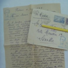 Militaria: GUERRA CIVIL : CARTA DE PALMA A SEVILLA A MADRE MARINERO MUERTO EN EL BALEARES, 1939. Lote 194604933