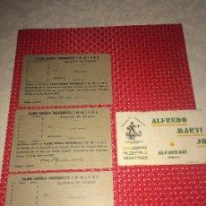 Militaria: SOLICITUDES DE INGRESO EN LA FALANGE - FRUTAS ARTIFICIALES ALFREDO MARTI - ALFARRASI ( VALENCIA ). Lote 194639085