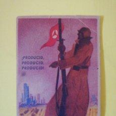 Militaria: TARJETA CAMPAÑA PRODUCID PRODUCID 1938 EJÉRCITO . Lote 194668533