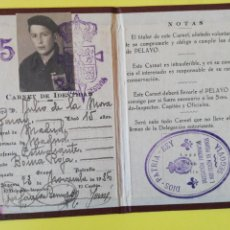 Militaria: CARNET PELAYOS DIOS PATRIA REY SEGOVIA 1936 . Lote 194671120