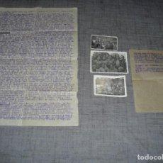 Militaria: LOTE TRES FOTOS MILICIANOS EJERCITO POPULAR GUERRA CIVIL CONSEJO GUERRA LA ELIANA VALENCIA C. 1. Lote 194755785