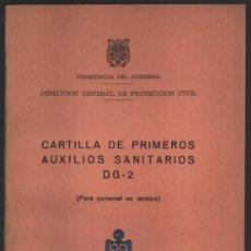 Militaria: CARTILLA POPULAR DE PROTECCION CIVIL, DG - 2, COMPLETO, EXCELENTE CONSERVACION, VER FOTOS. Lote 194922995