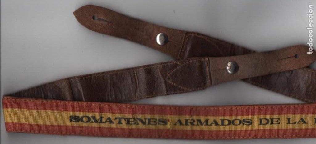 Militaria: CORREAJE--SOMATENES ARMADOS DE LA 1ª REGION--- MIDE: 1 METRO DE LARGO Y 3 CM. DE ANCHO, VER FOTOS - Foto 2 - 194931618