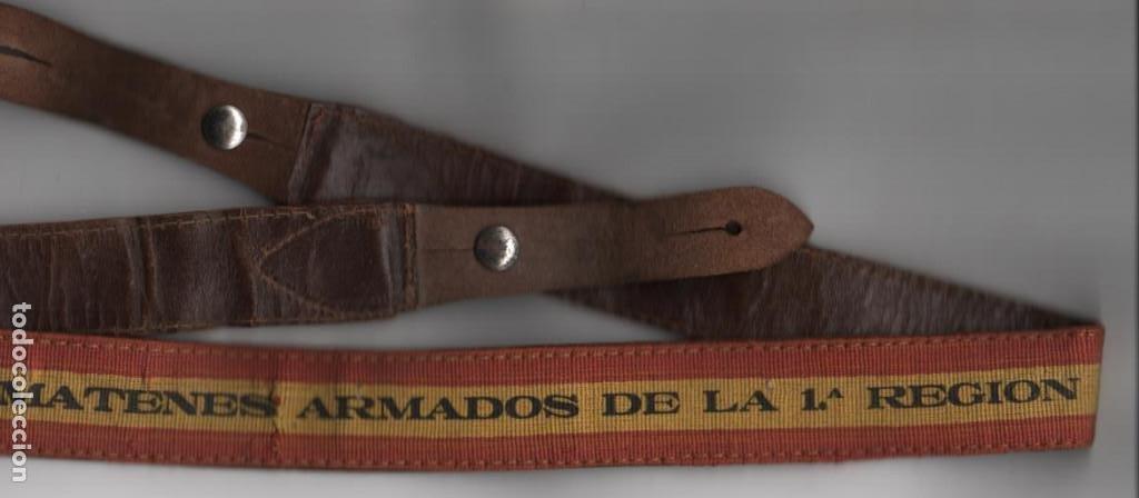Militaria: CORREAJE--SOMATENES ARMADOS DE LA 1ª REGION--- MIDE: 1 METRO DE LARGO Y 3 CM. DE ANCHO, VER FOTOS - Foto 3 - 194931618
