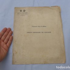 Militaria: * LIBRITO COMITE EDUCACIO MILITAR DE CATALUNYA, REPUBLICANO, GUERRA CIVIL, ORIGINAL. ZX. Lote 196291930