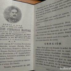Militaria: IN MEMORIAM CAPITAN DE INFANTERIA MURIO EN EL FRENTE DE ASTURIAS 1937. ORACIÓN TAUSTE ZARAGOZA. Lote 196662287