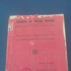 Militaria: EJÉRCITO REPUBLICANO TÁCTICA DE AMETRALLADORAS 1937. Lote 197089426