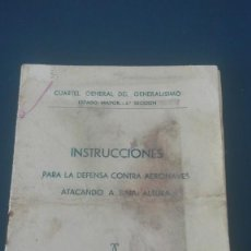 Militaria: DEFENSA CONTRA AERONAVES ATACANDO A BAJA ALTURA 1937. Lote 197095747