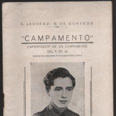 Militaria: CAMPAMENTO.- FRENTE DE JUVENTUDES, 16 PAG, VER FOTOS. Lote 197148942
