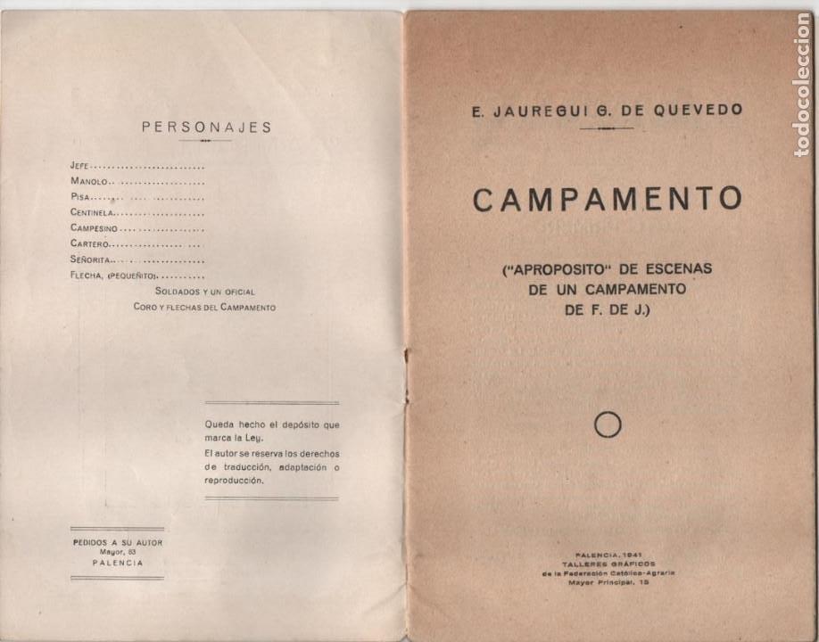 Militaria: CAMPAMENTO.- FRENTE DE JUVENTUDES, 16 PAG, VER FOTOS - Foto 2 - 197148942