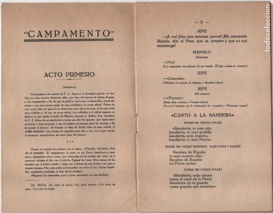 Militaria: CAMPAMENTO.- FRENTE DE JUVENTUDES, 16 PAG, VER FOTOS - Foto 3 - 197148942