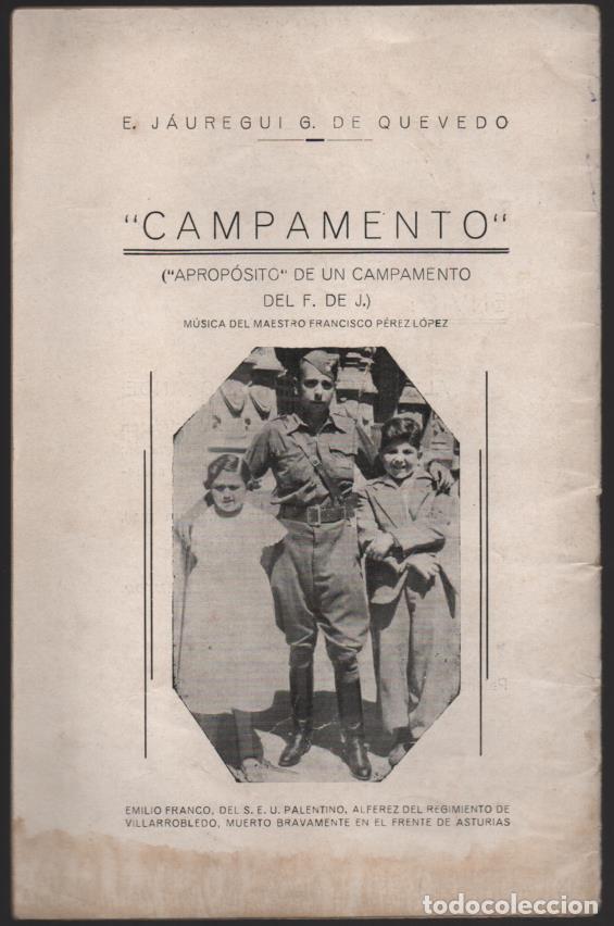 Militaria: CAMPAMENTO.- FRENTE DE JUVENTUDES, 16 PAG, VER FOTOS - Foto 6 - 197148942