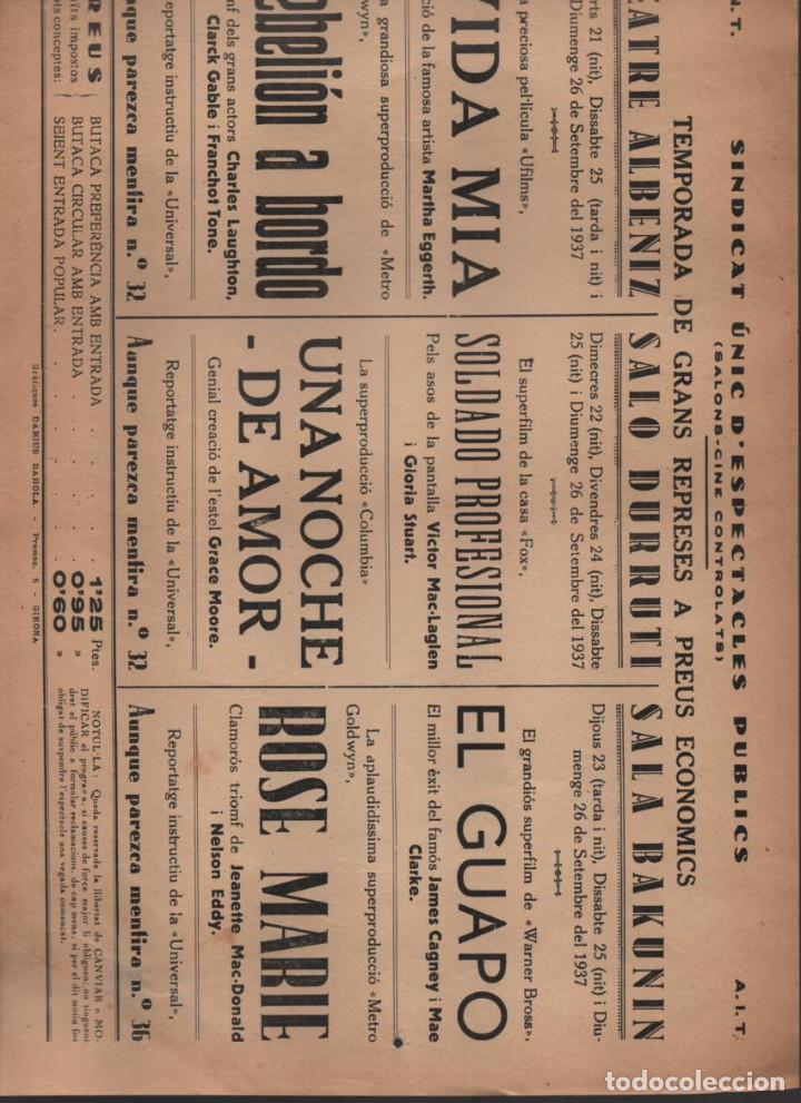 Militaria: C.N.T. A.I.T. --SINDICATO UNICO DE ESPECTACULOS PUBLICOS. MIDE; 32 X 22 C.M. VER FOTO - Foto 3 - 197183278