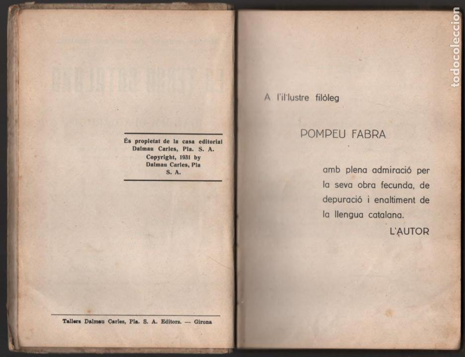 Militaria: LA TERRA CATALANA- POR JOAQUIN PLA CARGOL- AÑO 1936.- 190 `PAGINAS, VER FOTOS - Foto 3 - 197184101