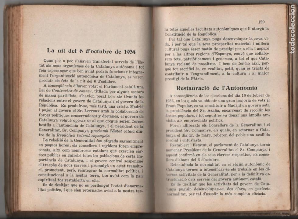Militaria: LA TERRA CATALANA- POR JOAQUIN PLA CARGOL- AÑO 1936.- 190 `PAGINAS, VER FOTOS - Foto 19 - 197184101