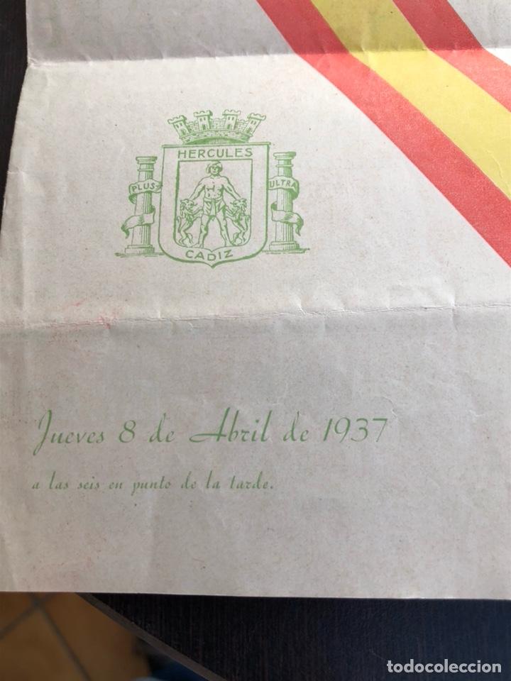 Militaria: Antiguo programa homenaje a Francisco franco, teatro falla, 1937 - Foto 2 - 197337393