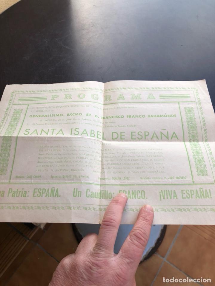 Militaria: Antiguo programa homenaje a Francisco franco, teatro falla, 1937 - Foto 3 - 197337393