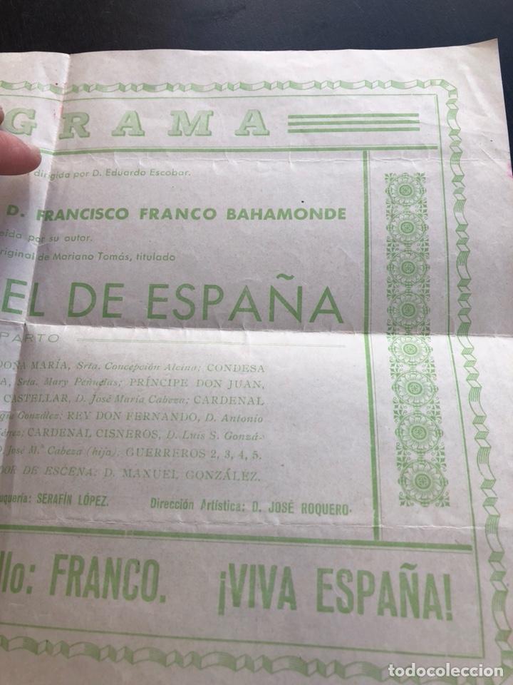 Militaria: Antiguo programa homenaje a Francisco franco, teatro falla, 1937 - Foto 5 - 197337393