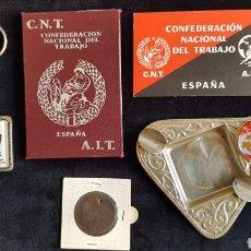 Militaria: PACK OBJETOS HISTORICOS CNT-FAI. Lote 197388055