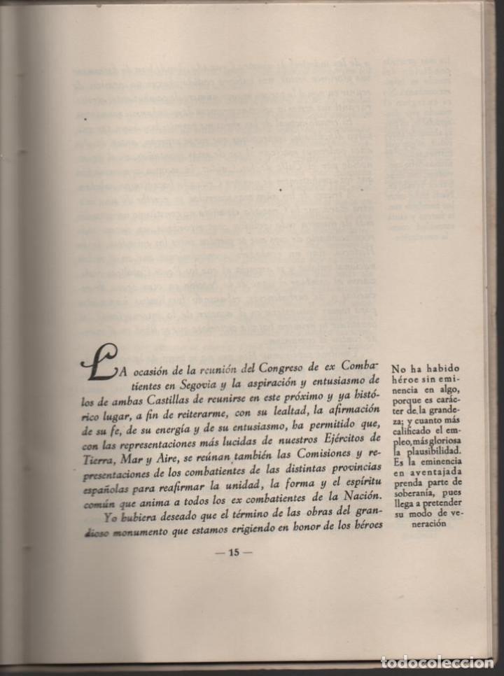 Militaria: CONCENTRACION REG. DE EX-COMBATIENTES DE LAS DOS CASTILLAS,- AÑO 1942--MCMLII- VER FOTOS - Foto 6 - 197505161