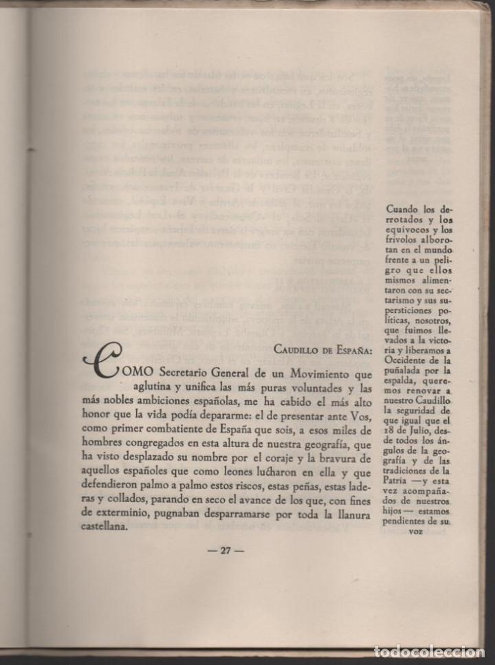 Militaria: CONCENTRACION REG. DE EX-COMBATIENTES DE LAS DOS CASTILLAS,- AÑO 1942--MCMLII- VER FOTOS - Foto 8 - 197505161