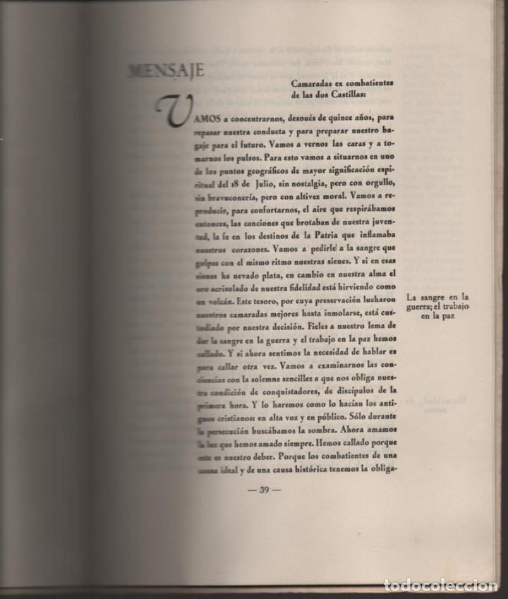 Militaria: CONCENTRACION REG. DE EX-COMBATIENTES DE LAS DOS CASTILLAS,- AÑO 1942--MCMLII- VER FOTOS - Foto 10 - 197505161