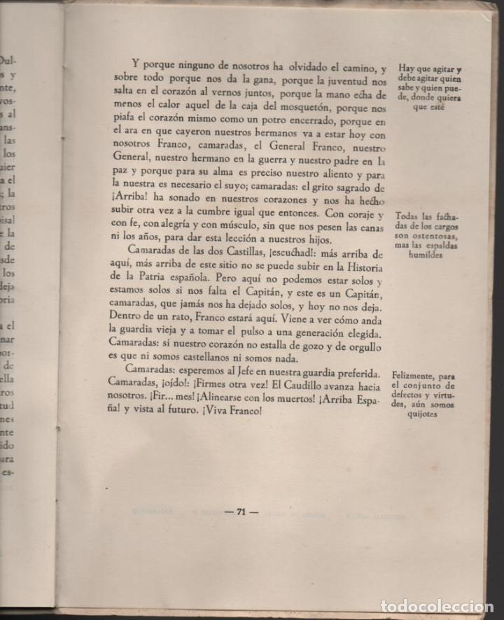 Militaria: CONCENTRACION REG. DE EX-COMBATIENTES DE LAS DOS CASTILLAS,- AÑO 1942--MCMLII- VER FOTOS - Foto 11 - 197505161
