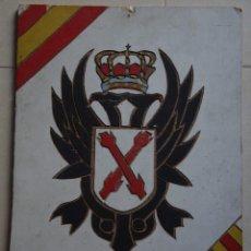 Militaria: ESCUDO CARLISTA EN MADERA, DE EPOCA. Lote 197785146
