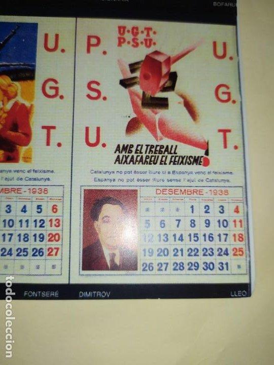 Militaria: ÚNICO CALENDARIO 1938 ALMANAQUE P. S. U. CARTEL U. G. T. RENAU VARIOS PSU UGT GUERRA CIVIL ESPAÑOLA - Foto 15 - 198073565