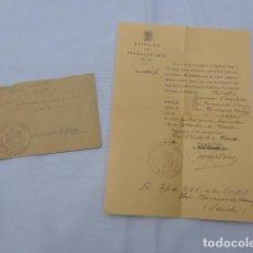 Militaria: * ANTIGUA CARTA Y SOBRE DE BATALLON DE TRABAJADORES, LIBERTAD PRESO, PONS, LERIDA, 1940. LLEIDA. ZX. Lote 198140392