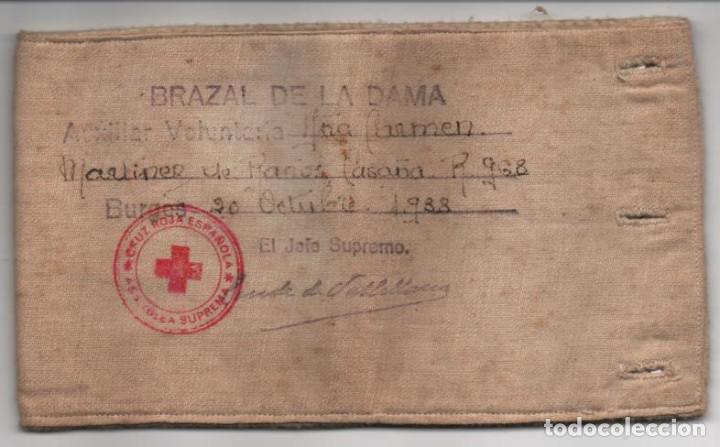 BURGOS,- CRUZ ROJA- BRAZAL DE LA DAMA- AÑO 1938, JEFE SUPR. CONDE DE VALLELLANOS, VER FOTOS (Militar - Guerra Civil Española)