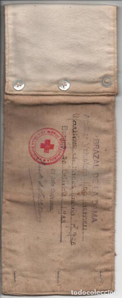 Militaria: BURGOS,- CRUZ ROJA- BRAZAL DE LA DAMA- AÑO 1938, JEFE SUPR. CONDE DE VALLELLANOS, VER FOTOS - Foto 5 - 198891827