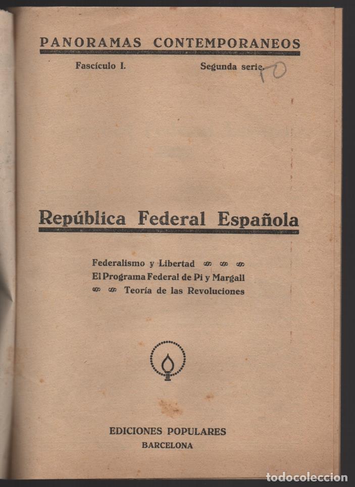 Militaria: BARCELONA,- EL PROGRAMA DEL MAESTRO- POR F. PI Y MARGALL, AÑO 1931, 16 PAGINAS, VER FOTOS - Foto 2 - 198892465