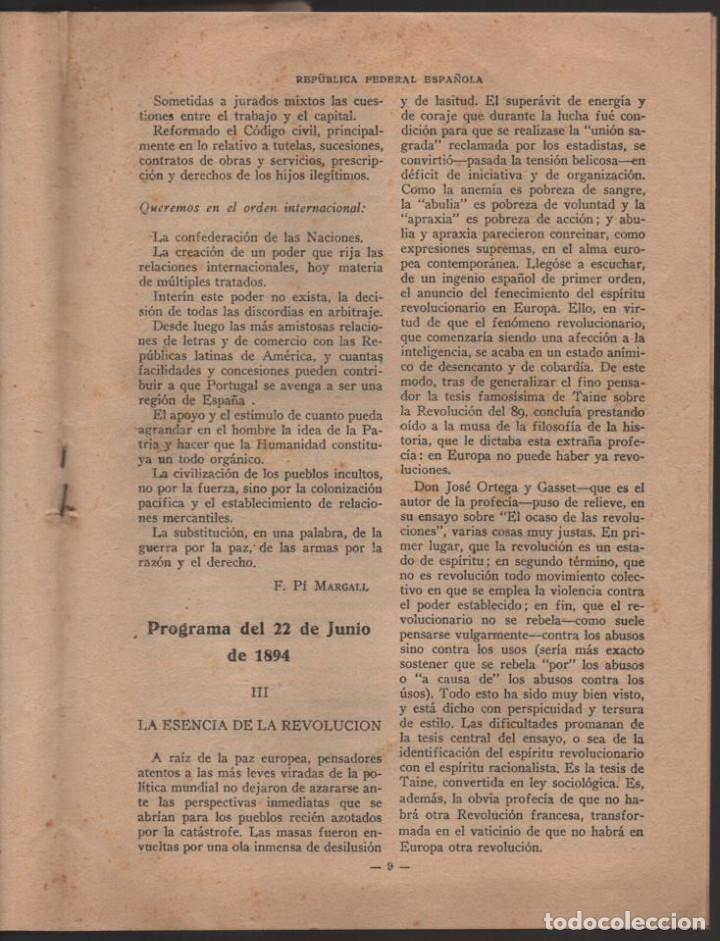 Militaria: BARCELONA,- EL PROGRAMA DEL MAESTRO- POR F. PI Y MARGALL, AÑO 1931, 16 PAGINAS, VER FOTOS - Foto 4 - 198892465