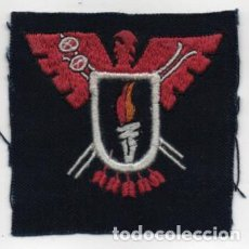 Militaria: PARCHE DE TELA BORDADO, F.J. -FRENTE DE JUVENTUD- MIDE: 7 X 7 C.M. VER FOTOS. Lote 198899421