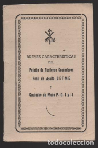 SAHARA- MARRUECOS- LEGION. CARECTERISTICAS PELOTON FUSILEROS GRANADEROS- C.E.T.M.E. Y GRANADAS, (Militar - Guerra Civil Española)