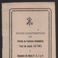 Militaria: SAHARA- MARRUECOS- LEGION. CARECTERISTICAS PELOTON FUSILEROS GRANADEROS- C.E.T.M.E. Y GRANADAS,. Lote 200010710