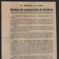 Militaria: BARCELONA, -LA REPUBLICA EN ARMAS- EL PRESIDENTE CONSEJO MINISTROS- NEGRIN- 8 ABRIL 1938, VER FOTOS. Lote 201301663