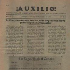Militaria: CAMAGUEY-ORG.OFIC. -AUXILIO- ASC. AUXILIO AL NIÑO DEL PUEBLO ESPAÑOL- AÑO 1938-12 PAG. VER FOTOS. Lote 201304936