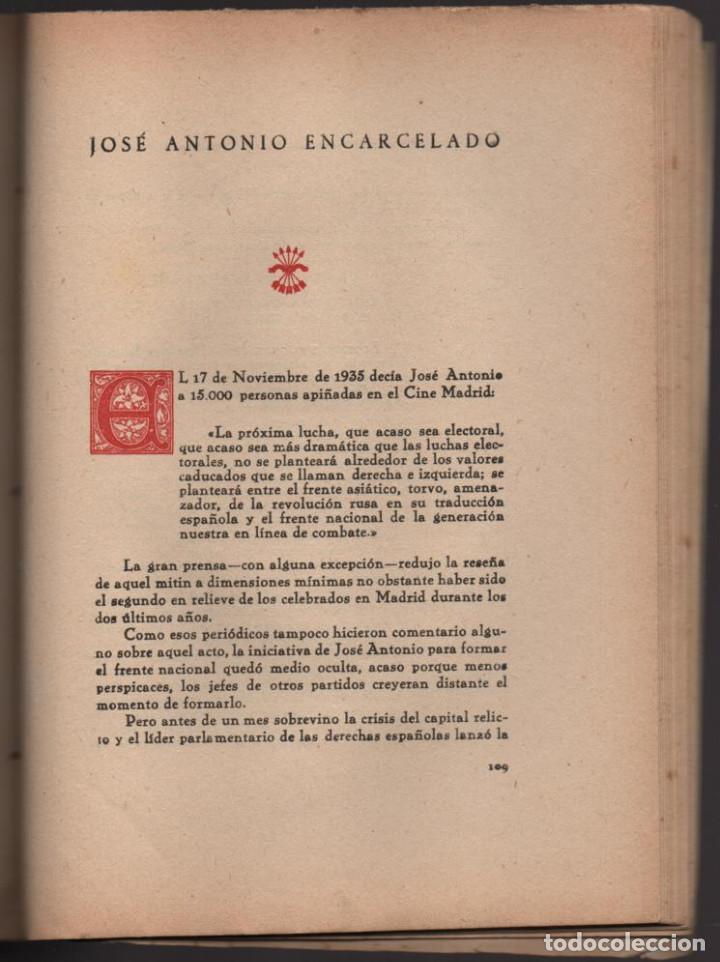 Militaria: HACIA LA HISTORIA DE LA FALANGE.. TOMO I. SANCHO DAVILA -JULIAN PEMARTIN-IMPRENTA JEREZ IND.AÑO 1938 - Foto 5 - 201930708