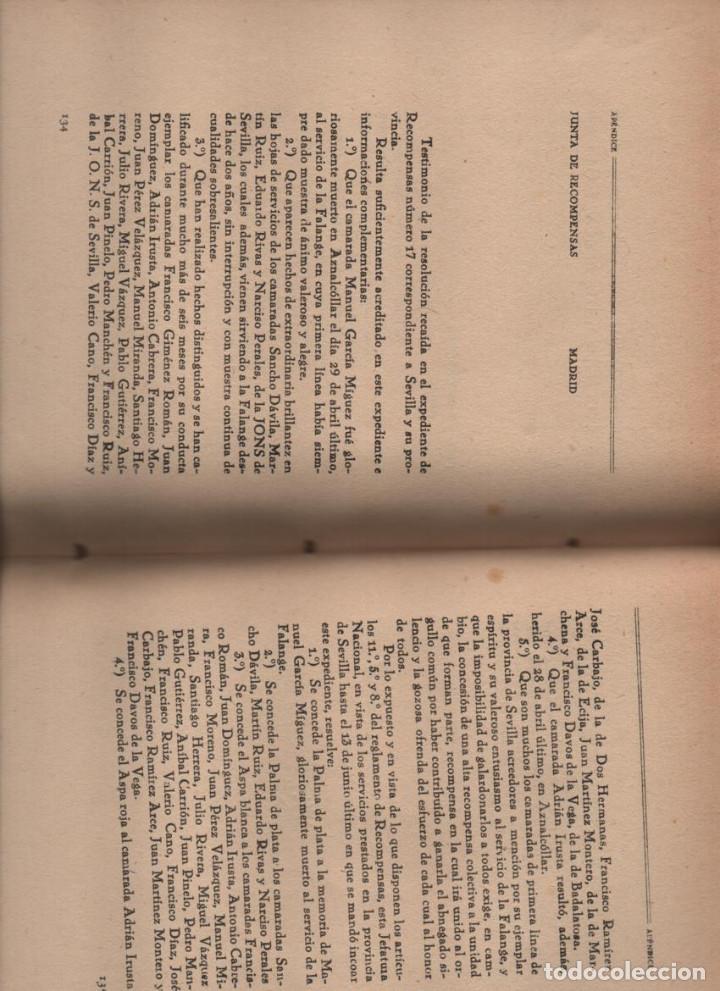 Militaria: HACIA LA HISTORIA DE LA FALANGE.. TOMO I. SANCHO DAVILA -JULIAN PEMARTIN-IMPRENTA JEREZ IND.AÑO 1938 - Foto 6 - 201930708