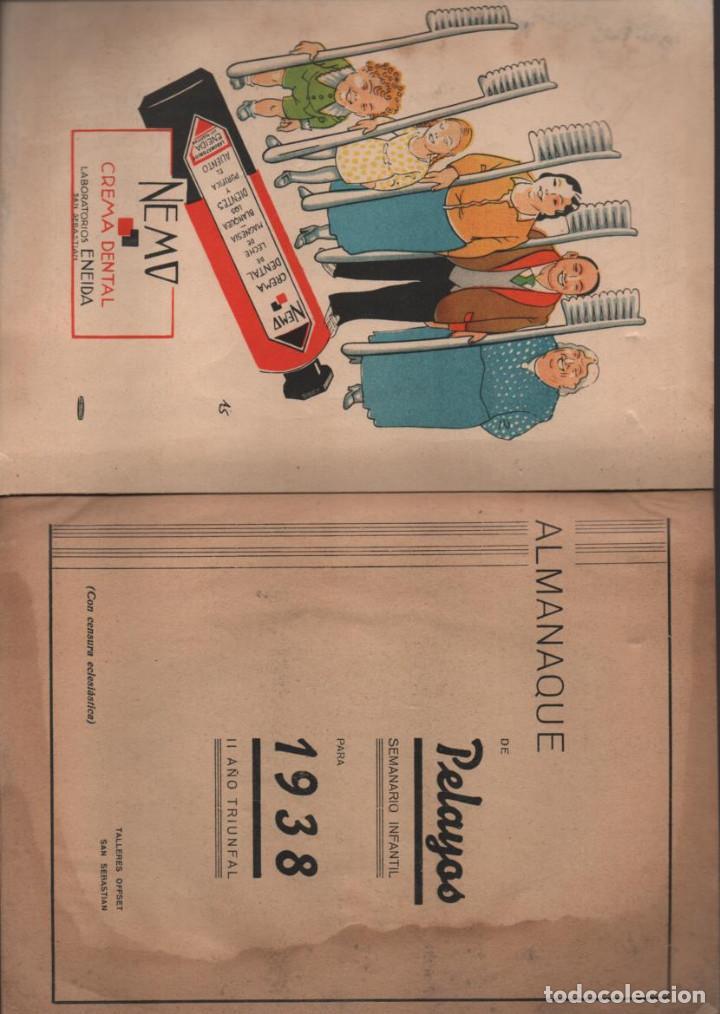 Militaria: ALMANAQUE - PELAYOS- AÑO 1938- 128 PAGINAS- VER FOTOS - Foto 3 - 201931042