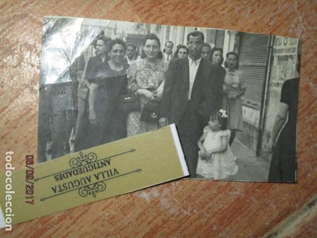 ALICANTE CONDUCTOR MILITAR POST GUERRA CIVIL CON FAMILIA EN RAMBLA ALICANTE (Militar - Guerra Civil Española)