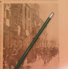 Militaria: 1937, CARLISMO, GUERRA CIVIL, EL TERCIO MONTEJURRA ENTRA EN GIJON, RETAL DE PRENSA. Lote 203027547