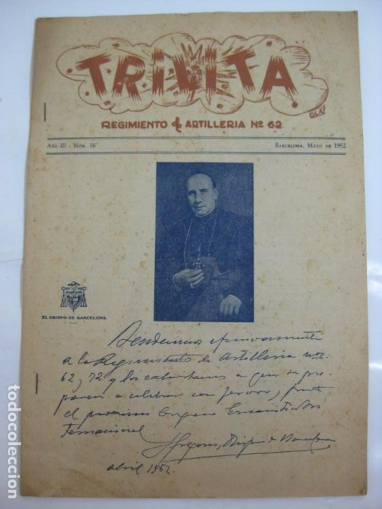TRILITA - REGIMIENTOS DE ARTILLERIA Nº 62 - Nº 16 AÑO 1952 (Militar - Guerra Civil Española)