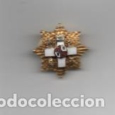 Militaria: INSIGNIA MILITAR, OJAL- CON CRUZ Y CORONA- DIAMETRO: 2 C.M. VER FOTOS. Lote 203105143
