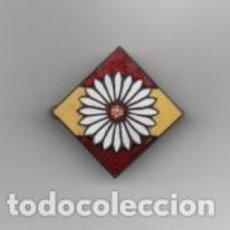 Militaria: MARGARITA Y BANDERA, F.E. -INSIGNIA ALFILER- .- MIDE: 2,80 X 2.80 C.M. VER FOTOS. Lote 203105578